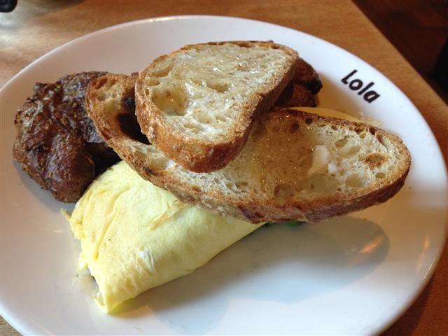 Lola's morel omelette